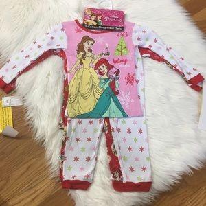 Disney Princess Christmas Holiday Pajama Set